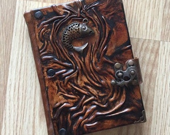 Travel Journal, Leather Journal, Leather Notebook, Steampunk Journal, School Journal, Gift Idea