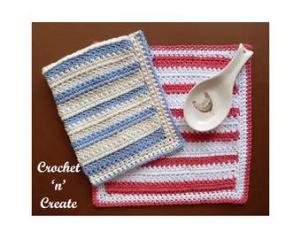 Crochet Two Cluster Dishcloth Crochet Pattern (DOWNLOAD) CNC91