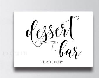 Dessert Bar Wedding Sign