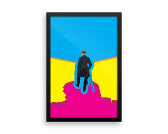 Wanderer above a Sea of CMYK - Framed Poster