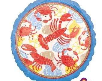 "Seafood crawfish lobster fest 18"" Mylar balloon"
