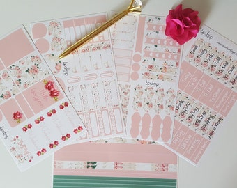 Planner stickers decals set glossy