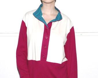 Colorblock crew neck sweater - Size Small