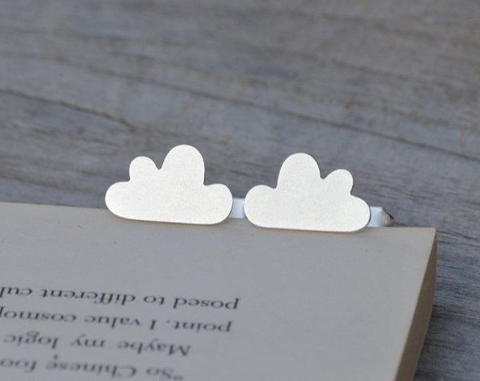 Fluffy Cloud Cufflinks In Solid Sterling Silver, With Personalized Message On The Back, Handmade In The UK