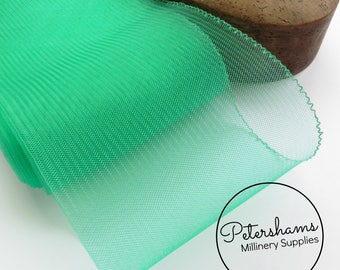 15cm (6 inch) Wide Crinoline (Crin, Horsehair Braid) for Hats, Millinery, and Fascinators - Jade