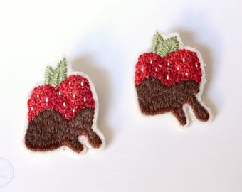 Chocolate Covered Strawberry Brooch