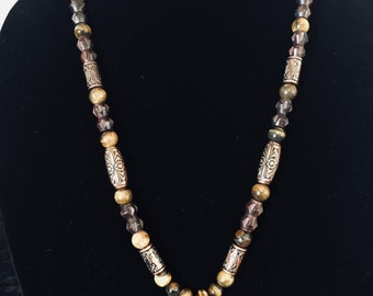 Beautiful in Brown Pendant Necklace