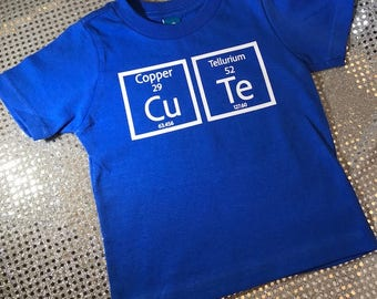 Science Geek Periodic Table CuTe Personalized Customized Baby/Toddler T-Shirt