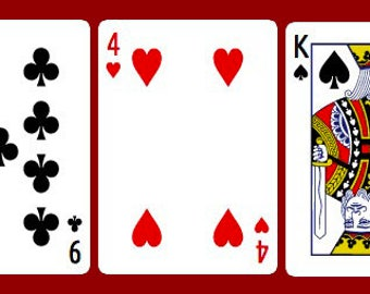 Line of 5 Playing Card Reading - Love/Relationships or General