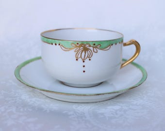 Antique Haviland Cup and Saucer, Haviland Limoges France Teacup and Saucer, French Classic Tea Cup and Saucer
