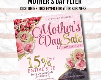 Mother's Day Flyer - Custom Flyer, Premade flyer , graphic design