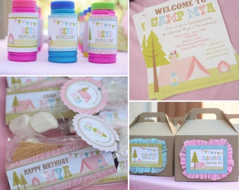 Glamping Party Collection DIY Printables