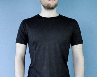 Bamboo T Shirt - Eco Friendly - Super Soft - Black