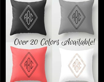 Modern Monogram Pillow Cover, Personalized Bedroom Decor, Initial Pillow Couch, Housewarming Gift For Couples, Anniversary Gifts For Women