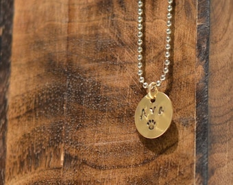 Animal Name Charm, with Necklace
