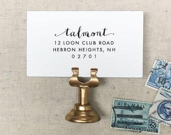 Custom Address Stamp. Self-Inking Stamp. Wooden Stamp. Wood Mailing Stamp. Return Address Stamp. Self-Inking Address Stamp. STYLE 46