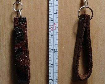 Leather earrings, Leather jewelry, original jewelry, leather painted
