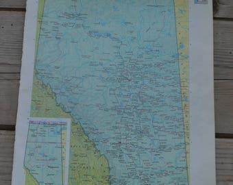Alberta Canada Calgary Vintage Map Print Original