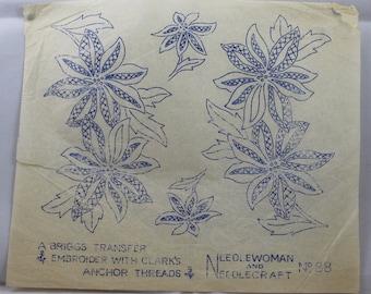 Flowers Embroidery Transfer - Needlewoman & Needlecraft 88