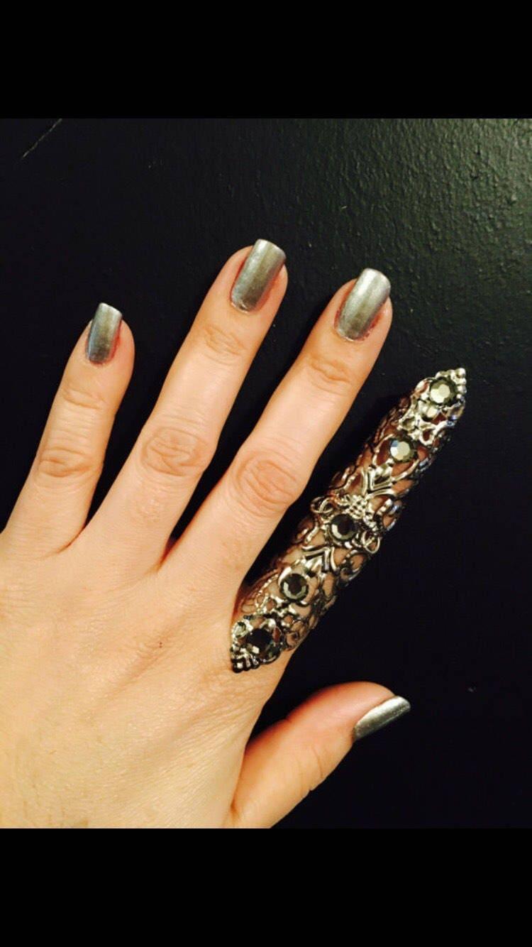 Schild Rüstung Ring Ring voller Fingerring Nagel Wache