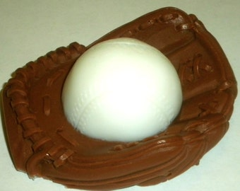 Baseball Glove Soap - Baseball Glove Ball - Free U.S. Shipping - Gift for Dad - Soap for Kids - Party Favors - You Choose Colors and Scent