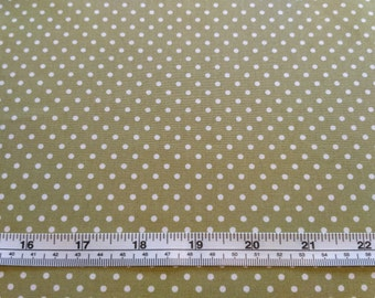 Cotton Poplin Fabric - Rose and Hubble - Green 3mm Spot - Sewing Craft Material Bags Dressmaking Quilting - UK Seller