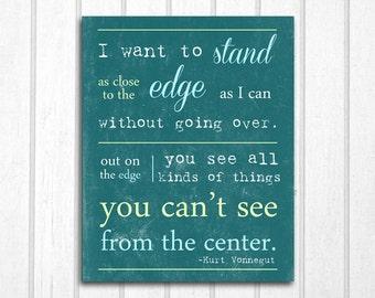 Kurt Vonnegut Quote Player Piano: 8x10 Print