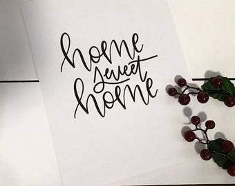 Home Sweet Home Print | Home Decor | Wall Art | Print | Home | Love | Sign