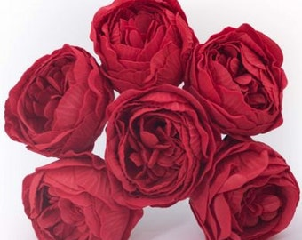 72 Stems Artificial Peonies - RED - Mixing colours available