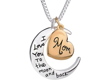 I Love you to the moon Mother Pendant with chain