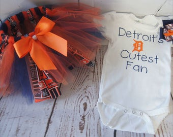Detroit Tiger's Tutu, First Birthday, Baby Gift, New Mom GIft, Tutu, Baby Shower Gift, Girl Birthday, Baby Clothes, New Baby, Baseball