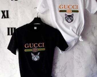 Gucci Shirt Men and Women - Gucci Inspired - black and white Gucci Unisex  - Gucci Design