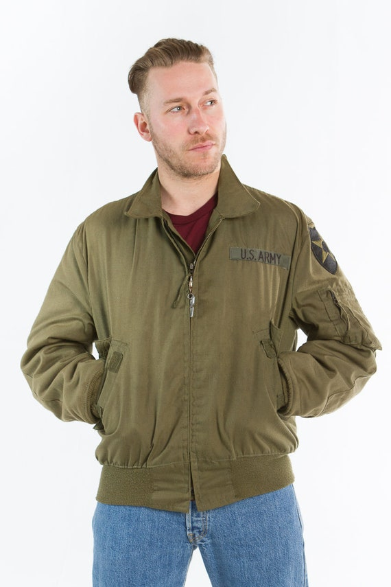 Size L Jacket 1980s Airforce Bomber w8qOpva