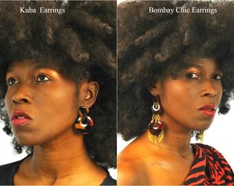 Ankara Earrings, African Earrings, Chandelier Earrings, Ankara Print Earrings, Statement Earrings, African Dangling Earrings