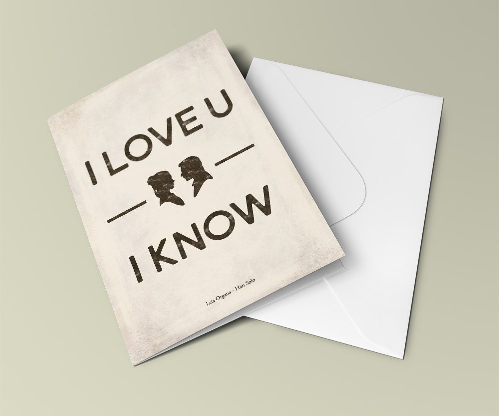 Star wars i love you i know valentines gift