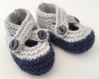 Baby Booties Knitting Pattern, Baby Shoes Pattern, Easy Baby Pattern, Baby Booties PDF Pattern,  Baby Knitting Pattern - BROOKE