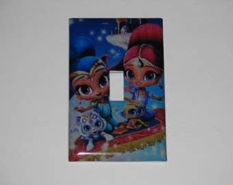 Shimmer and Shine Single Switch Plate Light Cover
