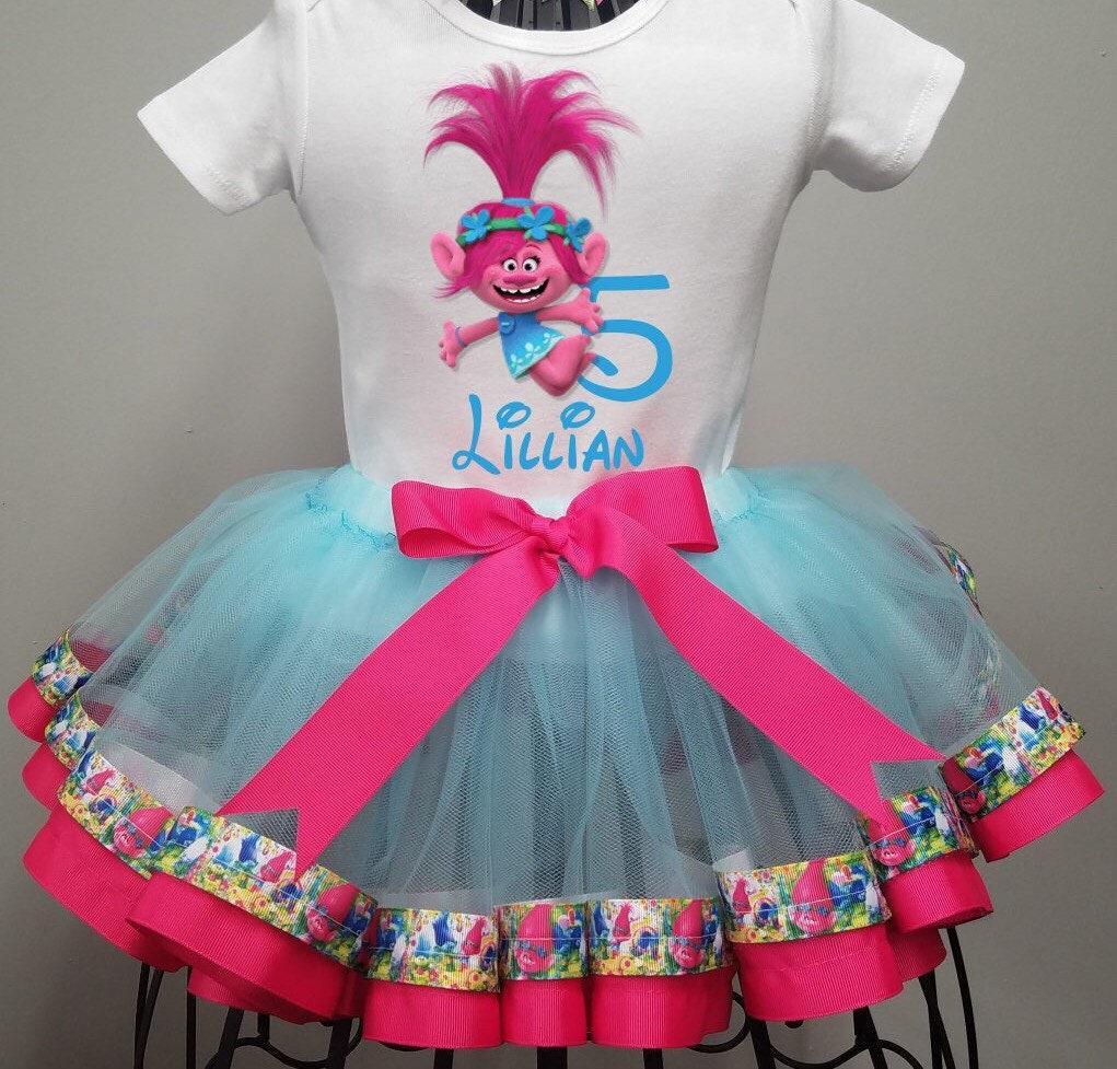 Trolls Birthday Tutu Outfit Personalized Poppy Birthday Party