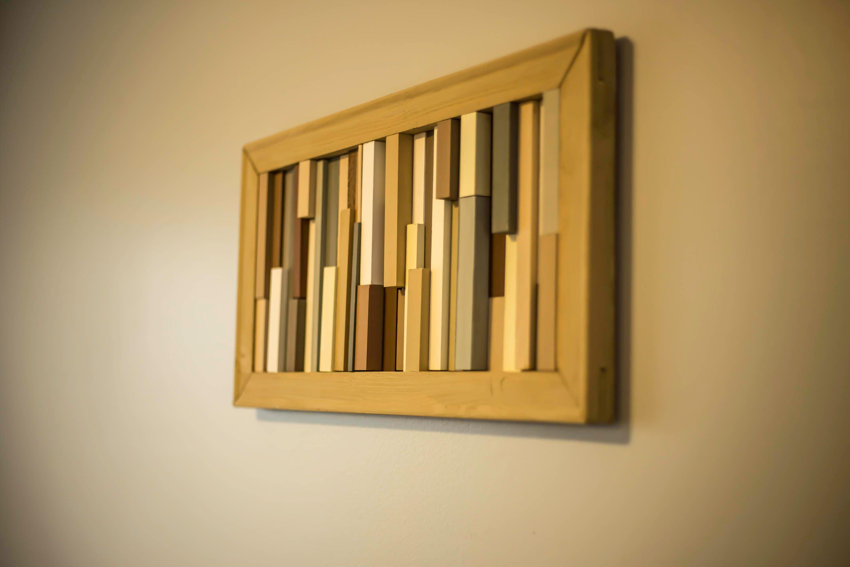 Wood wall art - Art sculpture - Modern wood art - Rustic wall - 12 ...