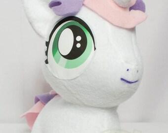 CHIBI Sweetie Belle MLP Hand-Made Custom Craft Plush