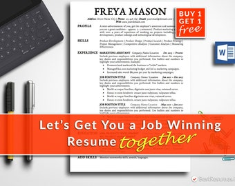 Resume Template Professional Resume Template Instant Download Modern Resume Template CV Template CV Design Free Resume Template Word