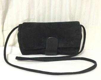 Nordstrom,suede leather purse,bag,black, Suede Leather, Shoulder Bag,bags, purses