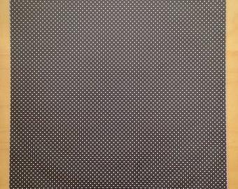 8.5x11 Polka Dot Black Paper