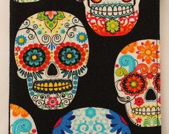 Sugar Skull Checkbook Cover