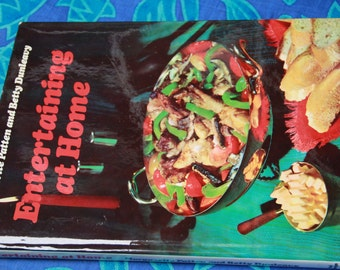 vintage cookbook Entertaining At Home Marguerite Patten Betty Dunleanvy 1965 hard cover with jacket larger cook book vintage cooking book