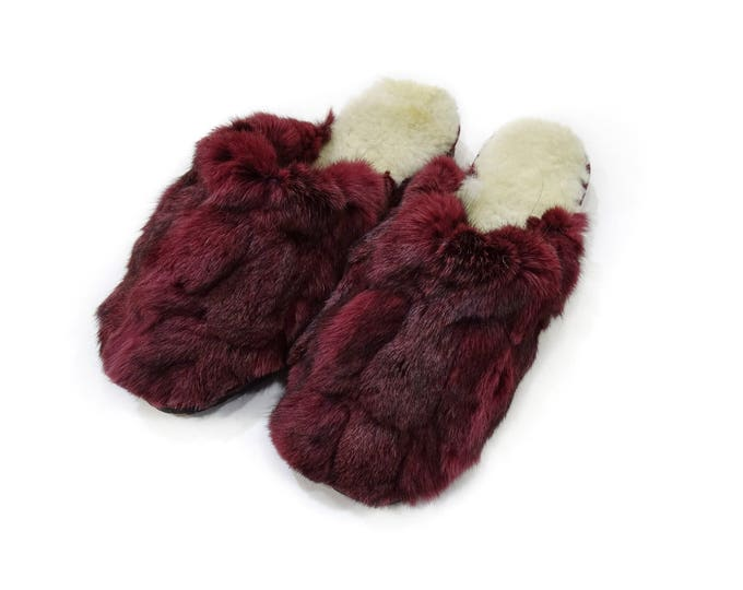 Rabbit Fur Slippers,Fur Slippers F799