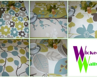 "Table Runner Blue Green 5 choices UK Funky Coffee/ Console Table/ Dresser Cotton (54"" 137cm)"