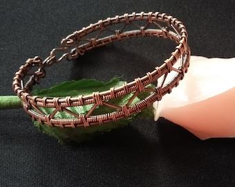 Braided copper wire wrap bracelet