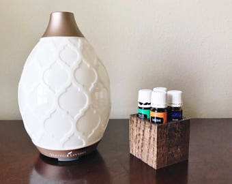 Small Essential Oil Wood Holder