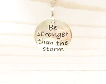 Be stronger than the storm, car charm, origami crane, rear view mirror charm, sentimental gift,